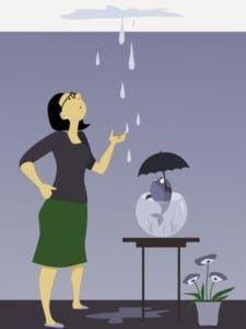 כיצד לאתר נזילת מים, נזילת מים מהתקרה