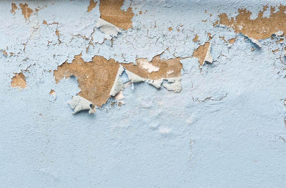 רטיבות בקיר, קילוף צבע, התנפחות צבע בקיר, בתקרה