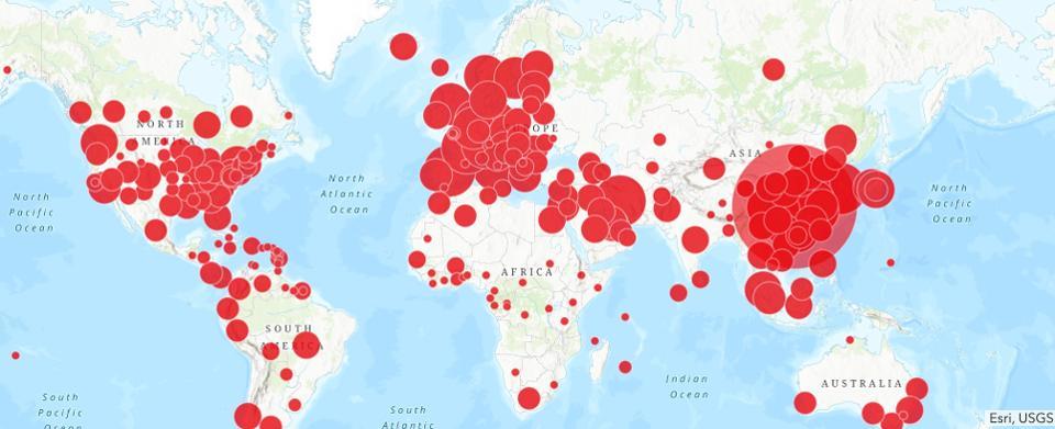 שיפוץ בזמן הקורונה מפת הדבקות בקורונה בעולם
